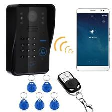 Wireless WIFI RFID Password Video Door Phone Doorbell Intercom Kit Night Vision