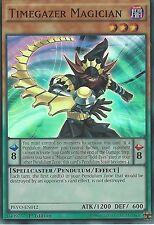 3X YU-GI-OH CARD: TIMEGAZER MAGICIAN - SUPER RARE - PEVO-EN012 - 1ST EDITION