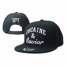 Cappellino cappello berretto snapback Cocaine & Caviar bianco nero Taglia unica