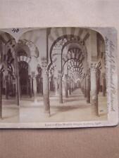 Stereoscope Card Moorish Mosque Cordova Spain