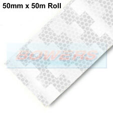 AVERY DENNISON V-6700B WHITE CLEAR CONSPICUITY TAPE 50mm X 50M RIGID TRAILERS