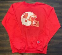 TAMPA BAY BUCCANEERS OLD LOGO RED CREWNECK SWEATSHIRT JERSEY
