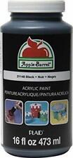 Apple Barrel Acrylic Paint in Assorted Colors 16 Oz 21148 Dry Quick Black Art
