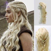 Game Of Thrones Season 8 Daenerys Targaryen Long Wig Cosplay Prop Halloween Wig