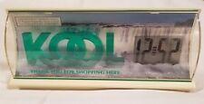 Vintage KOOL Cigarette Retail Rack Top Advertising Clock