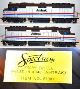 Amtrak 346 F40PH Phase II Passenger Diesel Bachmann Spectrum  HO 87007 JA27.8