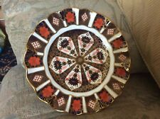 """ROYAL CROWN DERBY """"1128""""220mm Fluted Dessert Plate 1st Quality Vgc 1989"""