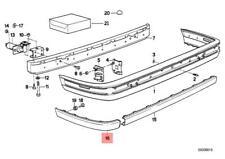 Genuine BMW Rubber Strip Left E30 316 316i 318i 318is 320i 51121945927