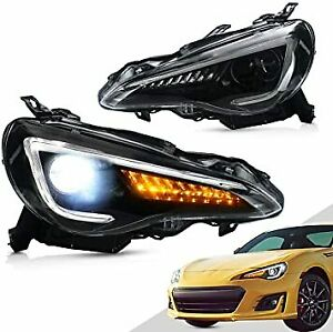 TOYOTA GT86 & SUBARU BRZ DRL LED SEQUENTIAL INDICATOR HEADLIGHTS- 2012-2020 -NEW