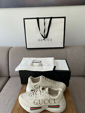 Gucci rhyton Logo Sneaker Size 37 UK4 Ladies Leather