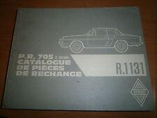 Renault CARAVELLE FLORIDE + cabriolet R1131 : catalogue pièces PR705-2