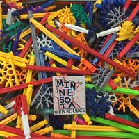 200 Random Standard Knex Bulk Lot Mixed Rods Connectors K'nex Replacement Parts