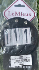 LEMIEUX Leather Diamante Round Bridle Number Holder 5569 Brand New Sealed Bag