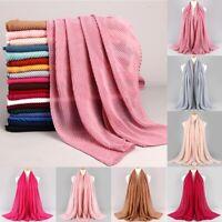 Premium Viscose Maxi Crinkle Cloud Hijab Scarf Shawl Soft Islam Muslim 180x90cm