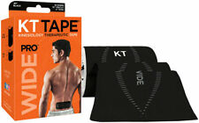 KT Tape Pro Wide Kinesiology Therapeutic Body Tape Roll of 10 Strips Black