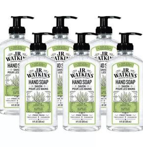 J.R. Watkins 23050 Aloe And Green Tea Scent Liquid Hand Soap 11 oz Pack of 6 A2