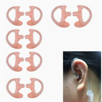5Pairs Replacement Radio Earpiece Insert for Acoustic Coil Tube Earbud Pink