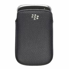 Genuine BlackBerry Torch 9800 nero pelle case tascabile