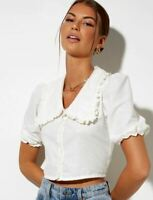 MOTEL ROCKS Tucci Top in Ivory (MR55)