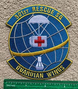 US Air Force 301st Rescue SQ Guardian Wings Military Embroidered Patch