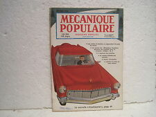 """MAGAZINE""""MECANIQUE POPULAIRE"""" décembre 1955 n°115 la nouvelle""""CONTINENTAL"""""""
