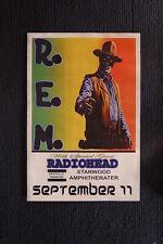 R.E.M. Radiohead tour poster 1989 starwood amphi