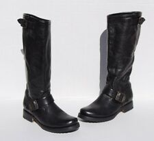 Frye Veronica Slouch Black Leather Boots Size 5.5