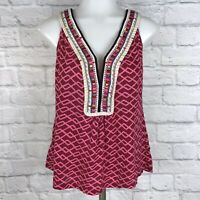 Anthropologie Akemi + Kin Small Tank Top Embroidered Pink
