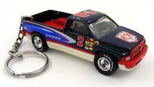 Custom Keychain Dodge Ram 1500 Blue Red and White #2 Key Chain Ring Fob