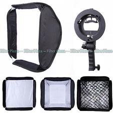 "24""/60cm Studio Softbox+Honeycomb Grid+ Handheld S-Type Bowens Mount Bracket Kit"