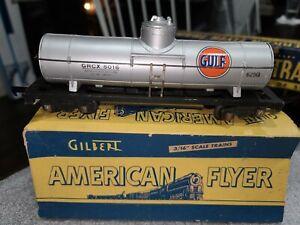 AMERICAN FLYER #625G GULF SINGLE DOME TANKER w/Box - Estate Lot #726