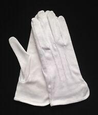 """White Cotton Gloves Slip-On """"Sure Grip"""" Medium (Dozen)"""