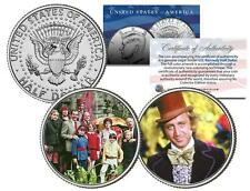 WILLY WONKA & THE CHOCOLATE FACTORY Colorized JFK Kennedy Half Dollar 2-Coin Set