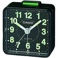 Casio TQ140 Mini Beep Compact Analogue Alarm Clock Black New