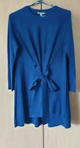 COS Blue Wool Knitted Belted Tunic Dress Top, size XS, never worn