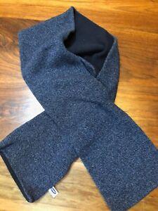 """Men's Winter 66"""" Lambswool Scarf - Old Navy, Denim Blue & Fleece, Double-sided"""