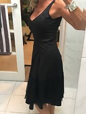 Zara Woman Black Cocktail Dress With Lace Hem VERY FLATTERING NWOT