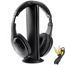 MH2001 Cascos auriculares inalambricos con radio FM para TV PC musica audifonos