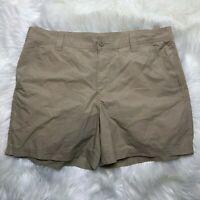 "Columbia Womens  Size 38""  Tan Shorts Outdoor  Hiking  Cotton Shorts"