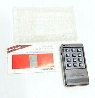 "VTG NOS Radio Shack Pocket Tone Dialer 43-139 4"" w/ Manual Retro Number Keypad"