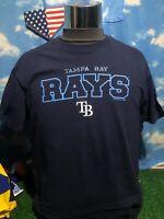 Tampa Bay rays MLB large blue T-shirt Shirt c29