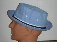 New Dorfman Pacific Men's Cotton Poplin BUCKET PORK PIE Cap HAT lt blue XL