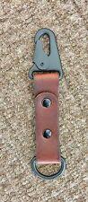 Heavy Duty Brown Leather Key Fob
