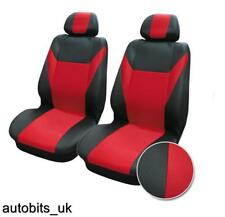 1+1 RED-BLACK FABRIC FRONT SEAT COVERS FOR FIAT PANDA GRANDE PUNTO 500 BRAVO