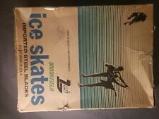 Brookfield Black Ice Skates Imported Steel Blades New Never Used Size 13