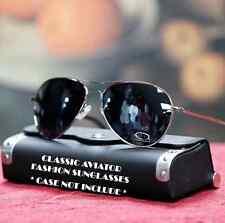 New Men's Aviator Vintage Style Sunglasses Cop Pilot Driving Fashion Sliver