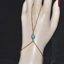 Bracelet Fancy Ring Original Howlite Blue Color Gold Jewel