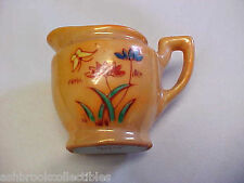 Occupied Japan Miniature Decorated Yellow Butterfly Floral Pitcher