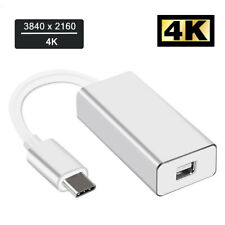 Video USB-C 3.1 Type-C to Mini DisplayPort For MacBook Mini DP Adapter 4K