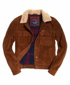 "Superdry Merchant Store Suede Trucker Jacket Size: S 36"" (91cm) RRP £179.99"